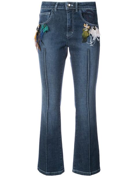 Sonia Rykiel jeans women spandex cotton blue