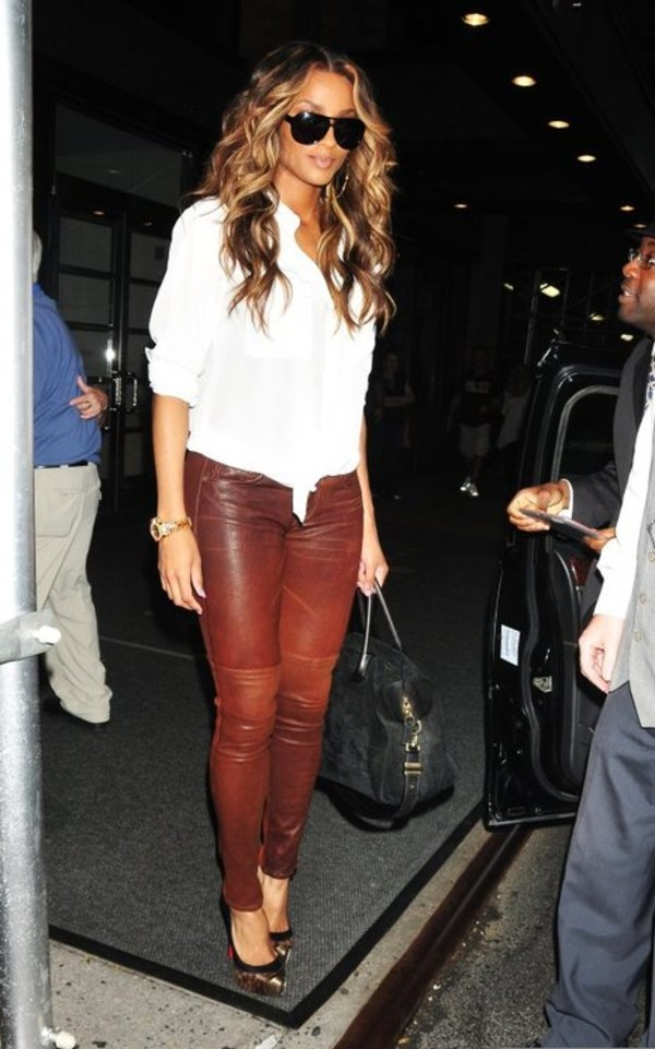 pants leather pants rag and bone ciara