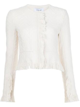 jacket cropped jacket cropped women white cotton