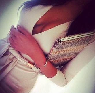 dress white dress bodycon dress v neck