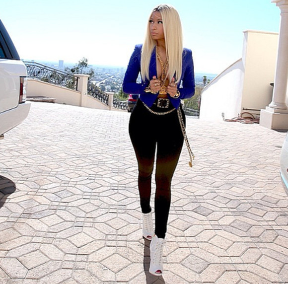 jacket blue jacket nicki minaj