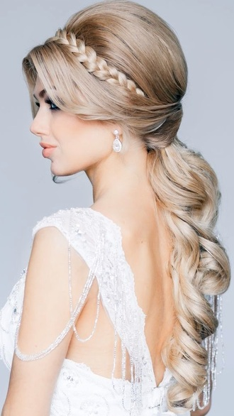 hair accessory blonde hair curly hair plait plaithairband