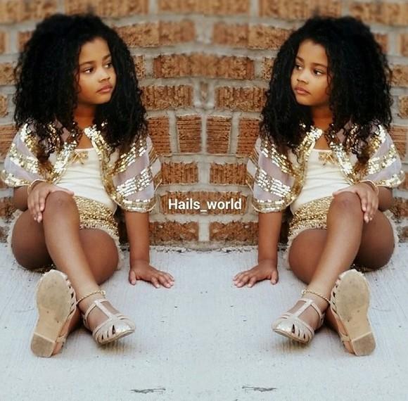 gold sequins girls toddler girly kids fashion