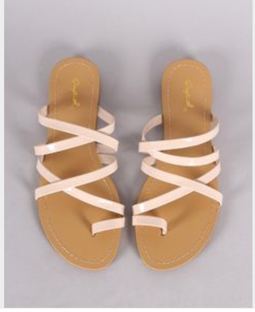 236f808edd1 shoes pink sandals strappy sandals toe ring sandals cute slide sandals cute  flat sandals cute strappy