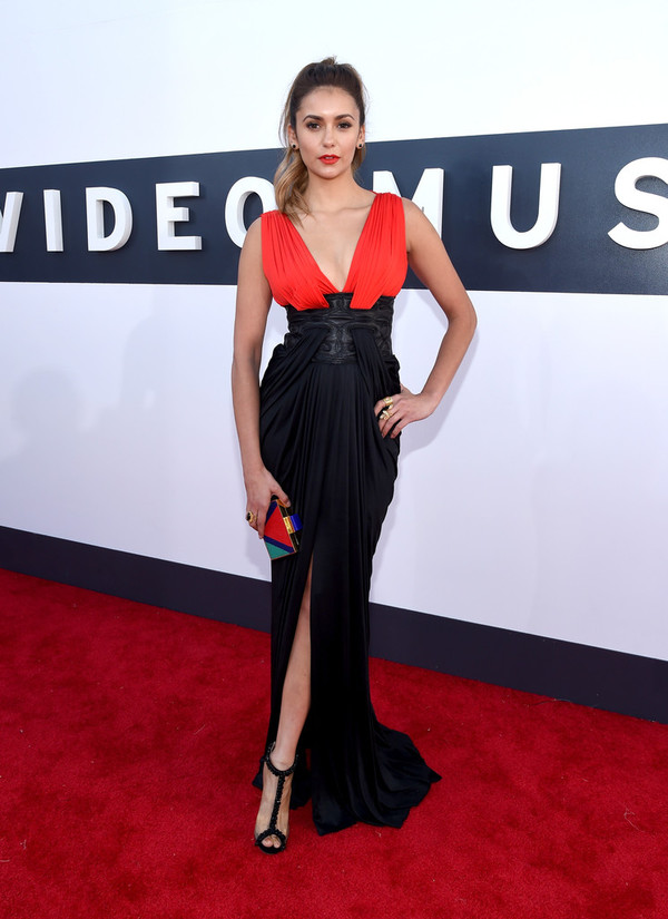 dress sandals nina dobrev mtv shoes vma zuhair murad jimmy choo