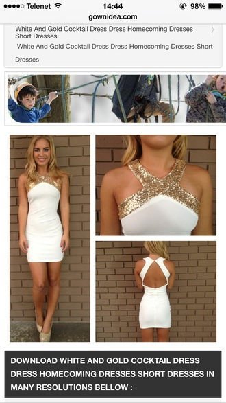 dress beautiful white gold high-low dresses