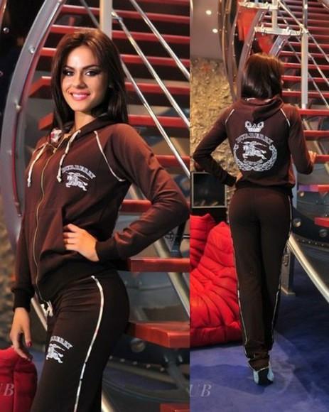 hood jumpsuit burberry tracksuit sportswear outfit outwear