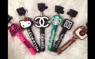 home accessory selfie stick chanel hello kitty