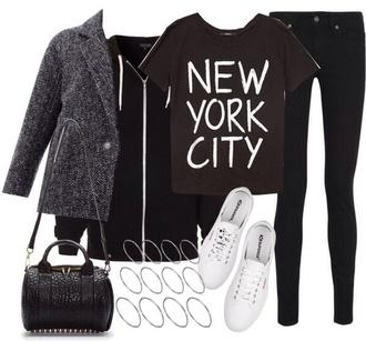 jacket jeans shirt shoes bag sweater
