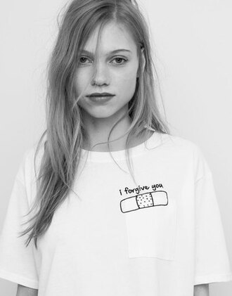 t-shirt girl girly girly wishlist white t-shirt graphic tee soft grunge quote on it cute lovely