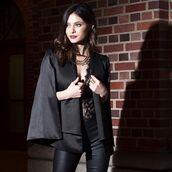jacket,angl clothing,shop angl,cape,cape jacket,cape blazer,blazer,new year's eve,holidays,style,black,black cape blazer,angl,36683