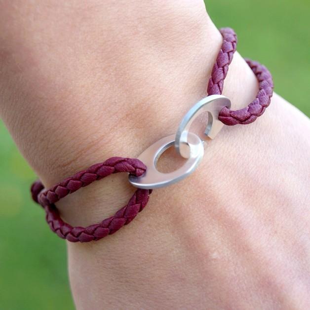 Braccialetti dell'amicizia - silver clasp - woven cord  - un prodotto unico di She-Bijou su DaWanda