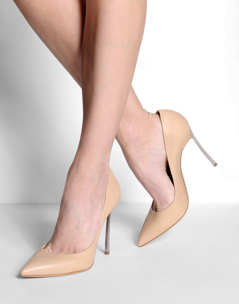 303052ec3d CASADEI BLADE SPIKE METAL HEEL NUDE BEIGE HIGH HEEL PUMP SHOES RRP $600