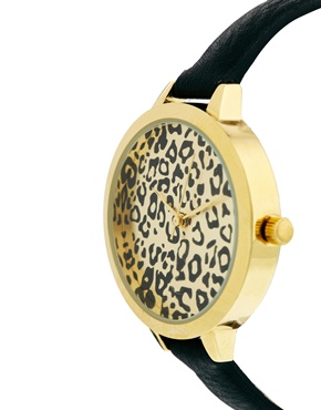 ASOS | ASOS Animal Print Large Face Slim Strap Watch at ASOS