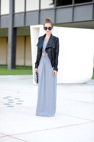 m loves m jacket shoes sunglasses bag jewels make-up nail polish date outfit