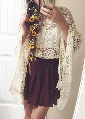blouse lace shirt top cover up