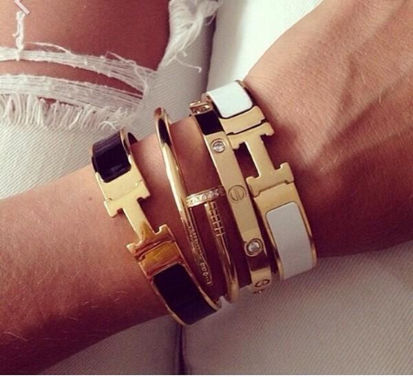 Jewels Jewelry Luxe Luxury Bracelets Hermes Clic