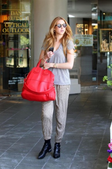 whitney port red bag