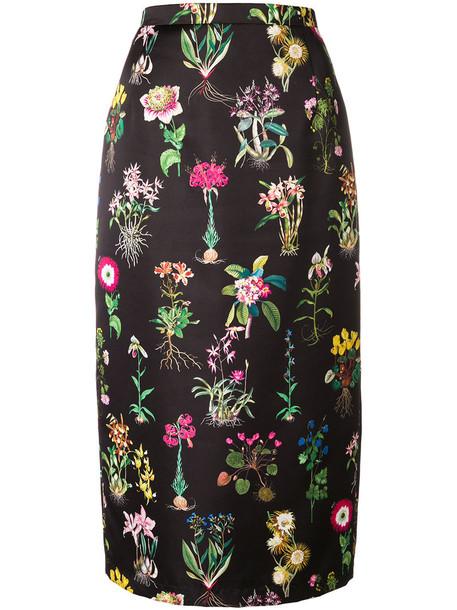 No21 skirt midi skirt women midi floral black