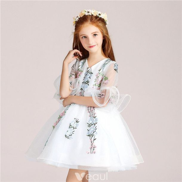 YOOJIA Flower Girl Dress Kids Rhinestone Pageant Maxi Romper Dresses Wedding Bridesmaid Dance Prom Party Gown