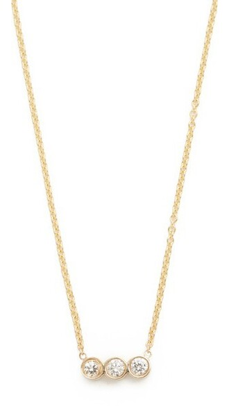 short clear diamonds necklace pendant gold jewels