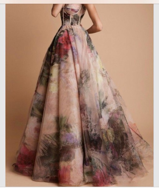 dress evening dress ball gown dress prom gown pink floral prom dress prom pretty multicolor corset top corset dress flowy dress floral dress long dress vintage floral ball gown pink dress flowe evening dress long dress formal ball gown dress print formal dress