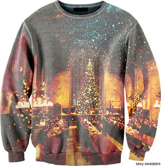 sweater harry potter great hall christmas