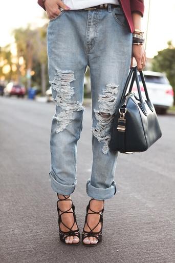 Scuff Front 320 Boyfriend Jeans - Arad Denim