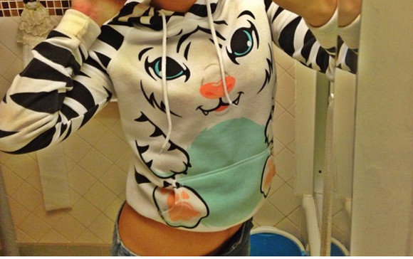 tiger animal pants sweatshirt black stripes jacket panjda blue baby sexy find red neonpink