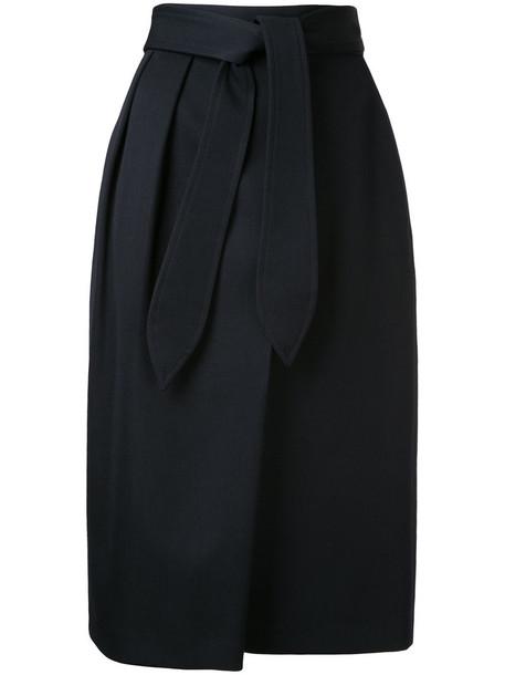 Estnation skirt midi skirt women midi black wool