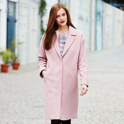 Jackson.Black Designer pink cashmere blend coat- at Debenhams.com