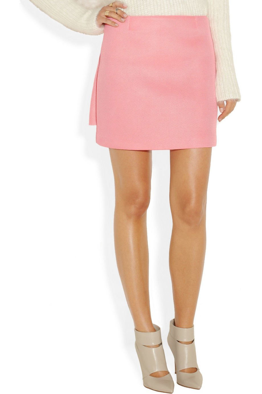Mesh mini skirt – 50% at the outnet.com