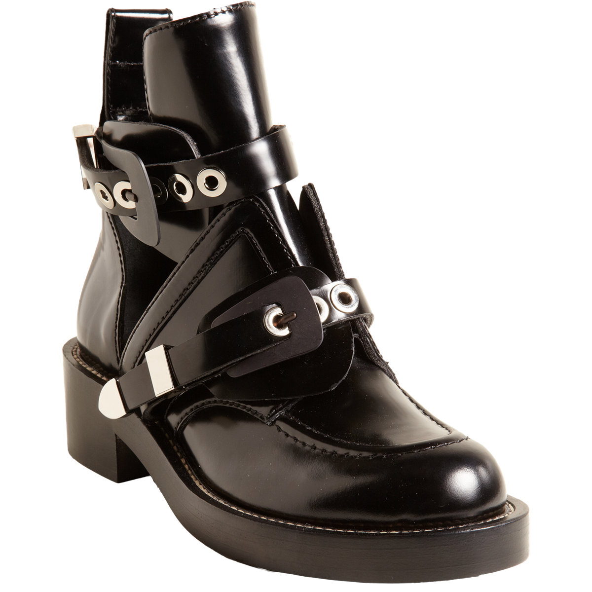 Balenciaga Buckle Strap Ankle Boot at Barneys.com