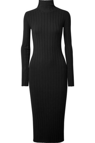 theory dress midi dress midi black knit