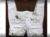 jeans,white robins star cargo  jeanss