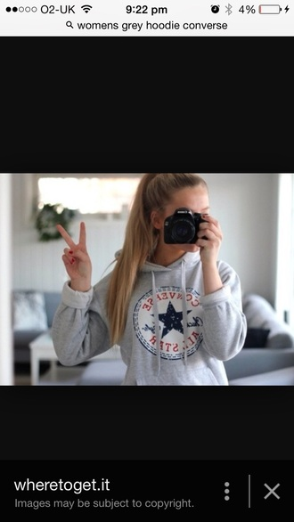 sweater grey sweater converse hoodie
