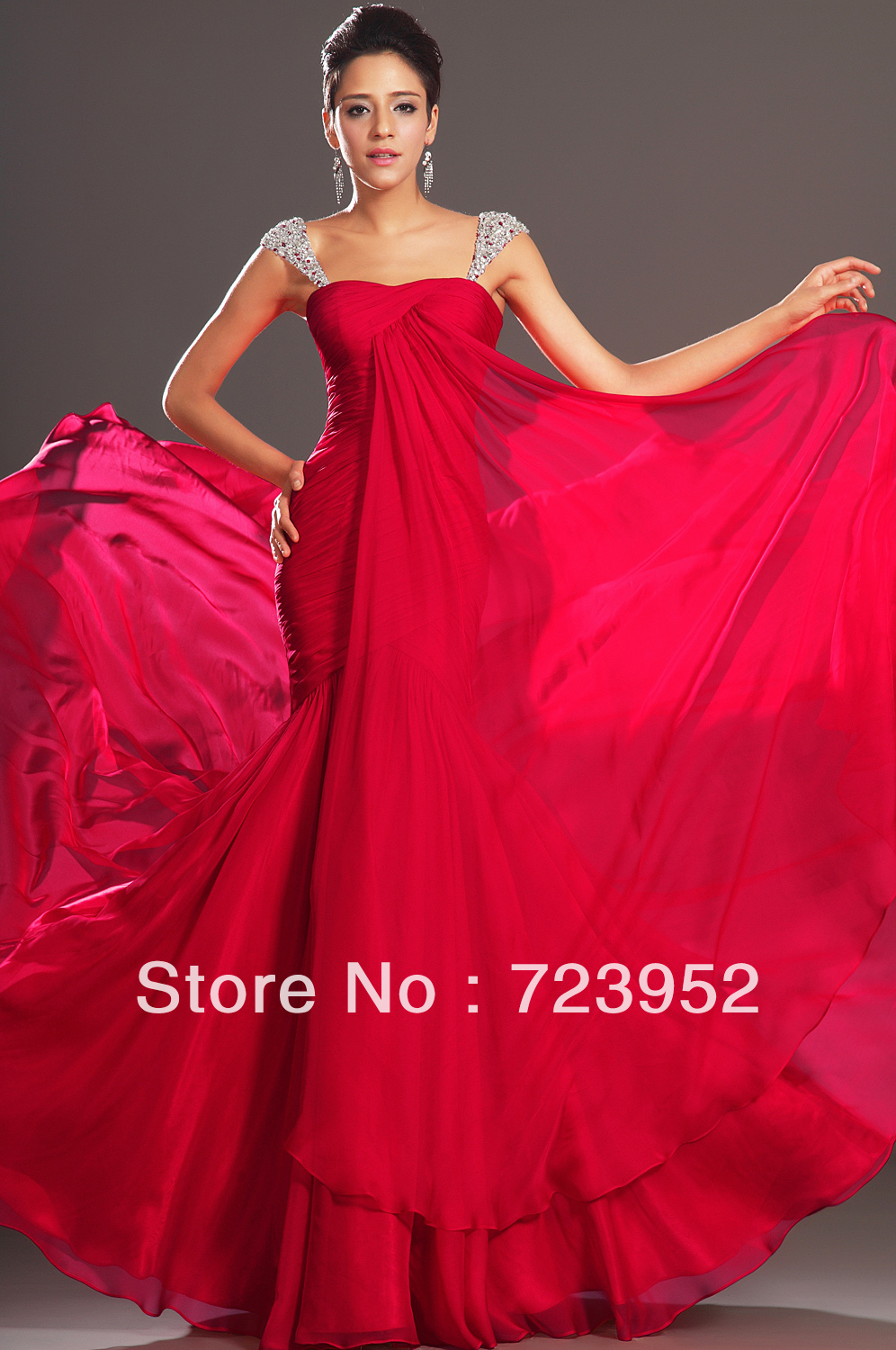 fitted red evening gowns - photo #48