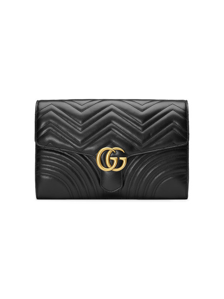 gucci women clutch leather black bag