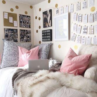 scarf blanket fur beige white apple macbook air bedroom bedding poster dorm room cute home decor