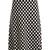 A-line polka dot-jacquard knit skirt