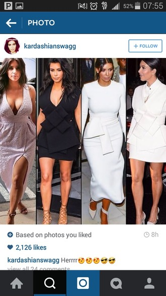 dress black dress white dress kim kardashian dress geometric shape