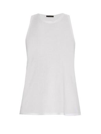 tank top top cotton white