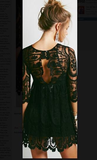 dress little black dress lace dress vogue