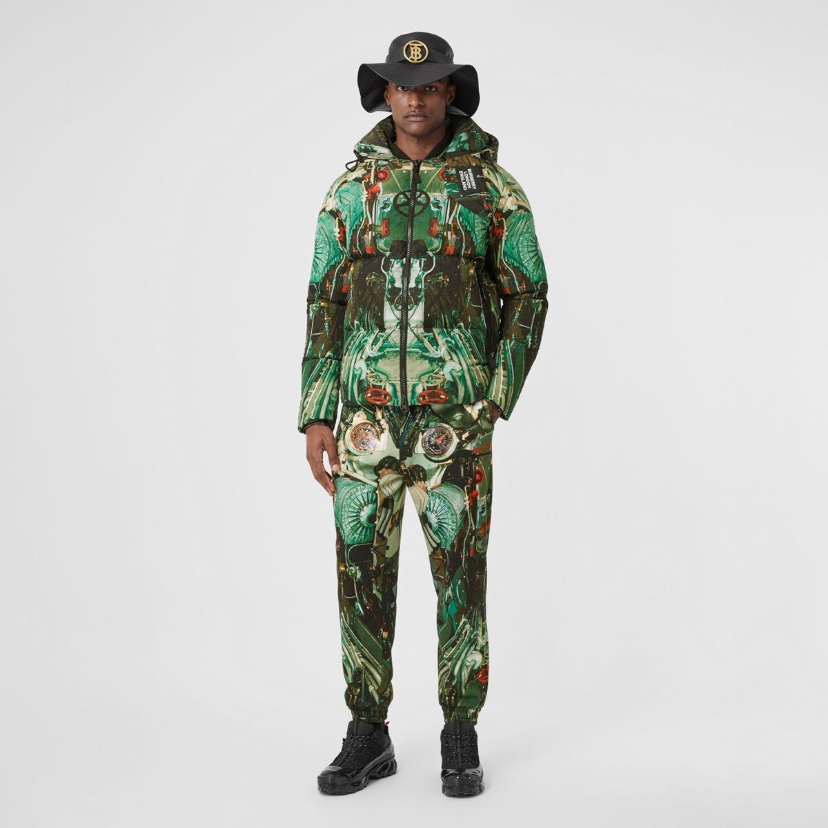 Submarine Print Puffer Jacket