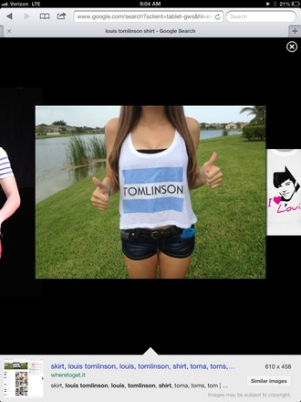 shirt one direction louis tomlinson xfactor toms music skirt