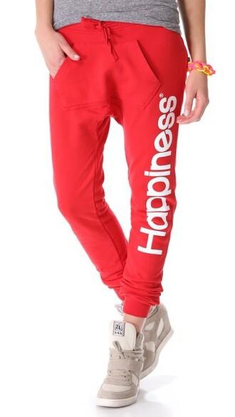 sweatpants red pants