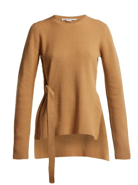 Stella Mccartney - D Ring Ribbed Sweater - Womens - Camel