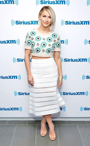sandals skirt top crop tops julianne hough