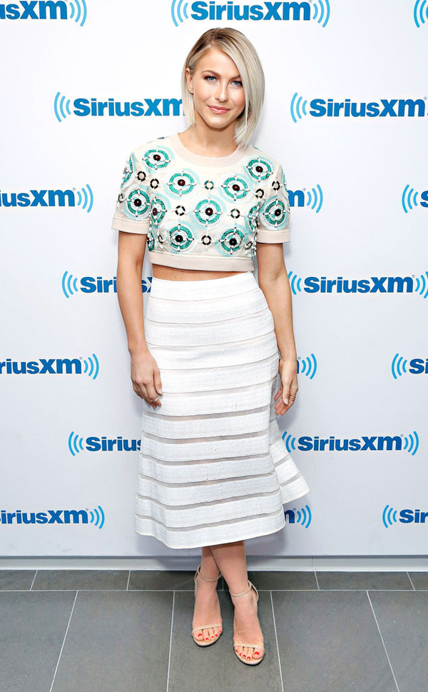 skirt top crop tops julianne hough sandals
