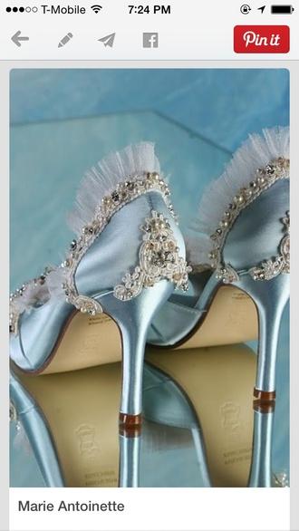 shoes blue wedding shoes lace bluer light blue wedding shoes blue heels blue wedding accessory